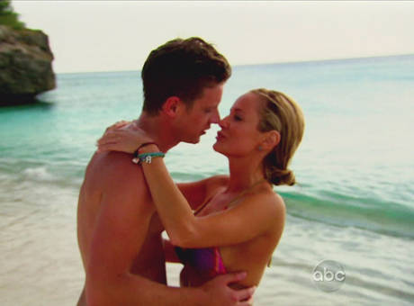 Emily Maynard and Jef Holm on the beach in Curacao