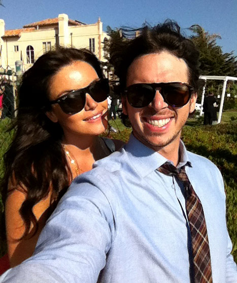 Ben Flajnik and Courtney Robertson at Cassie and Peter's wedding