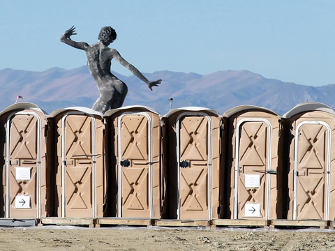 burning man porta potties