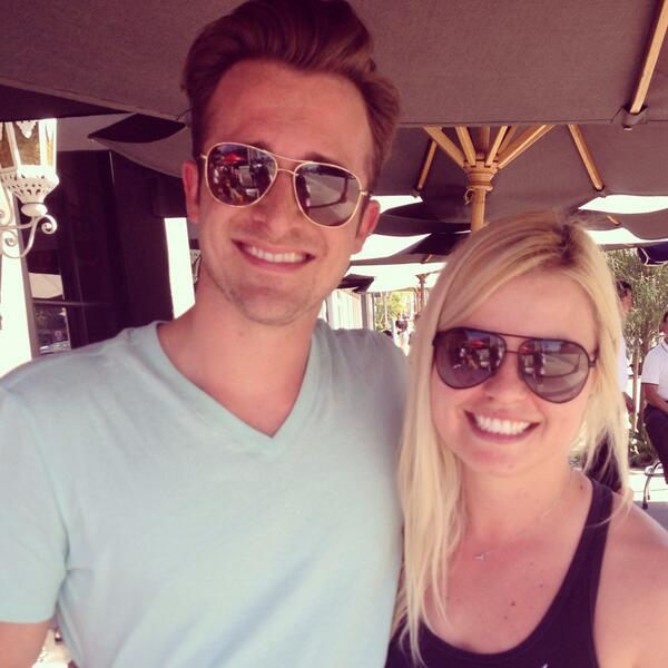 Matthew Hussey with his producer Source: Twitter