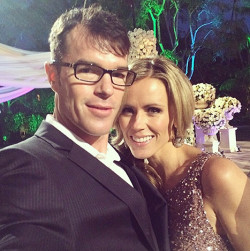 Trista Sutter and Ryan Sutter posed at Sean Lowe and Catherine Giudici's live TV Bachelor wedding Credit: Courtesy Trista Sutter