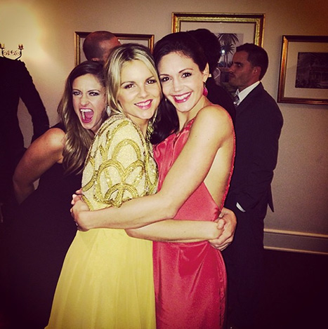 Molly Mesnick photobombed Ali Fedotowsky and Desiree Hartsock at Catherine Giudici and Sean Lowe's Bachelor wedding Credit: Courtesy Desiree Hartsock