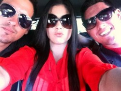 Source: Twitter Josh Murray with brother AAron and sister Stephanie