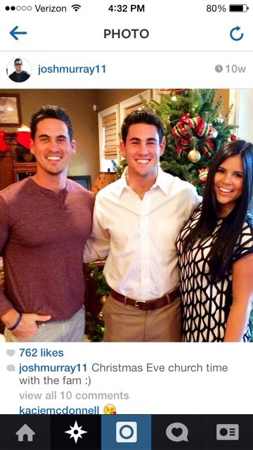 Josh Murray, Brother Aaron, Sister Stephanie Source: Instagram
