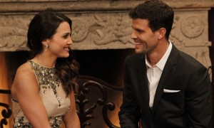 Bachelorette Andi Dorfman talks to Chris Hill night 1 Source: ABC