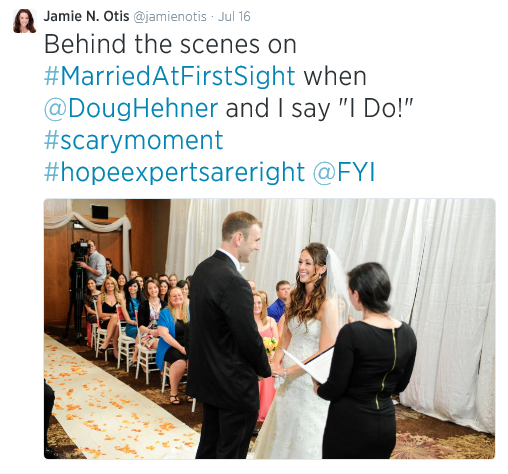 Jamie Otis wedding on Married at First Sight Source: Twitter