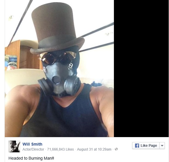 Will Smith at Burning Man Source: Facebook