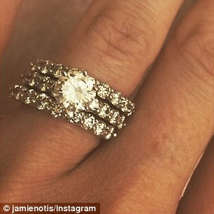 Jamie Otis engagement ring Source: Instagram