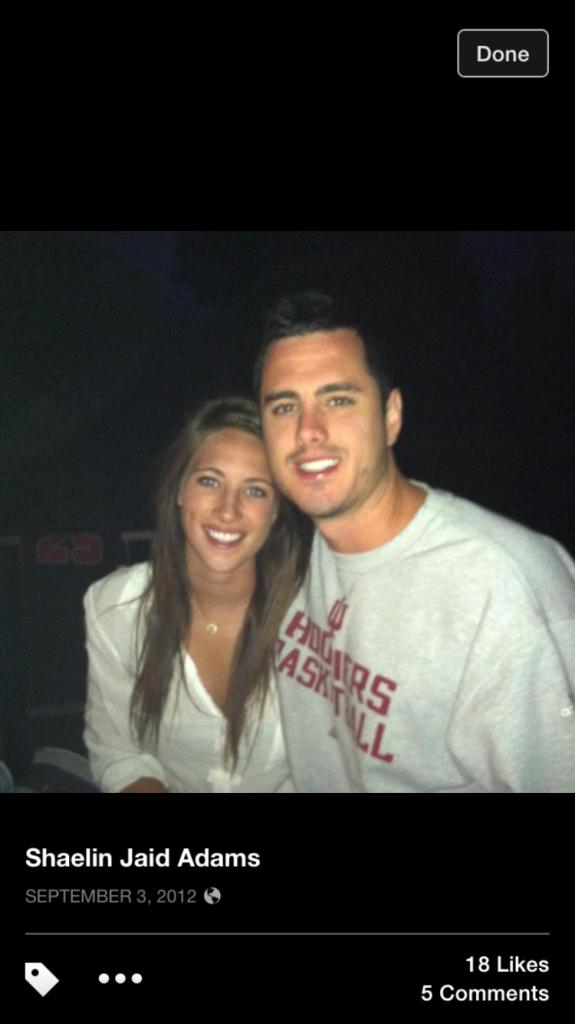 Ben Higgins and ex-girlfriend Shaelin Jaid Adams