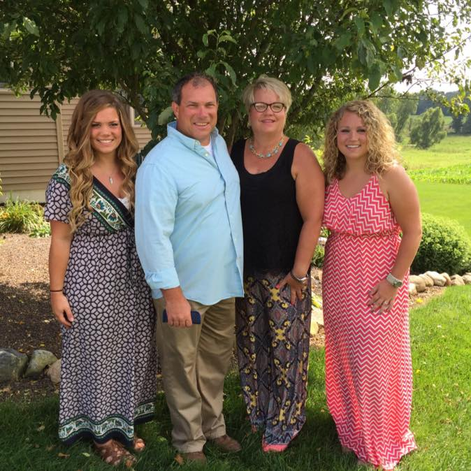 Scott Bibler and his family. Scott was sadly killed in the plane crash. Source: Facebook